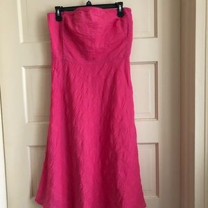 J CREW STRAPLESS SUN DRESS